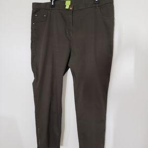 Plus size Jacob Adam khaki light jeans size 16